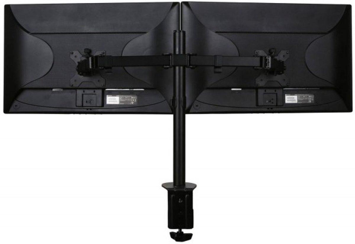 Filex 80981 Focus monitorarm dubbel [2x 32 inch 8kg, 360°/180°, Black]
