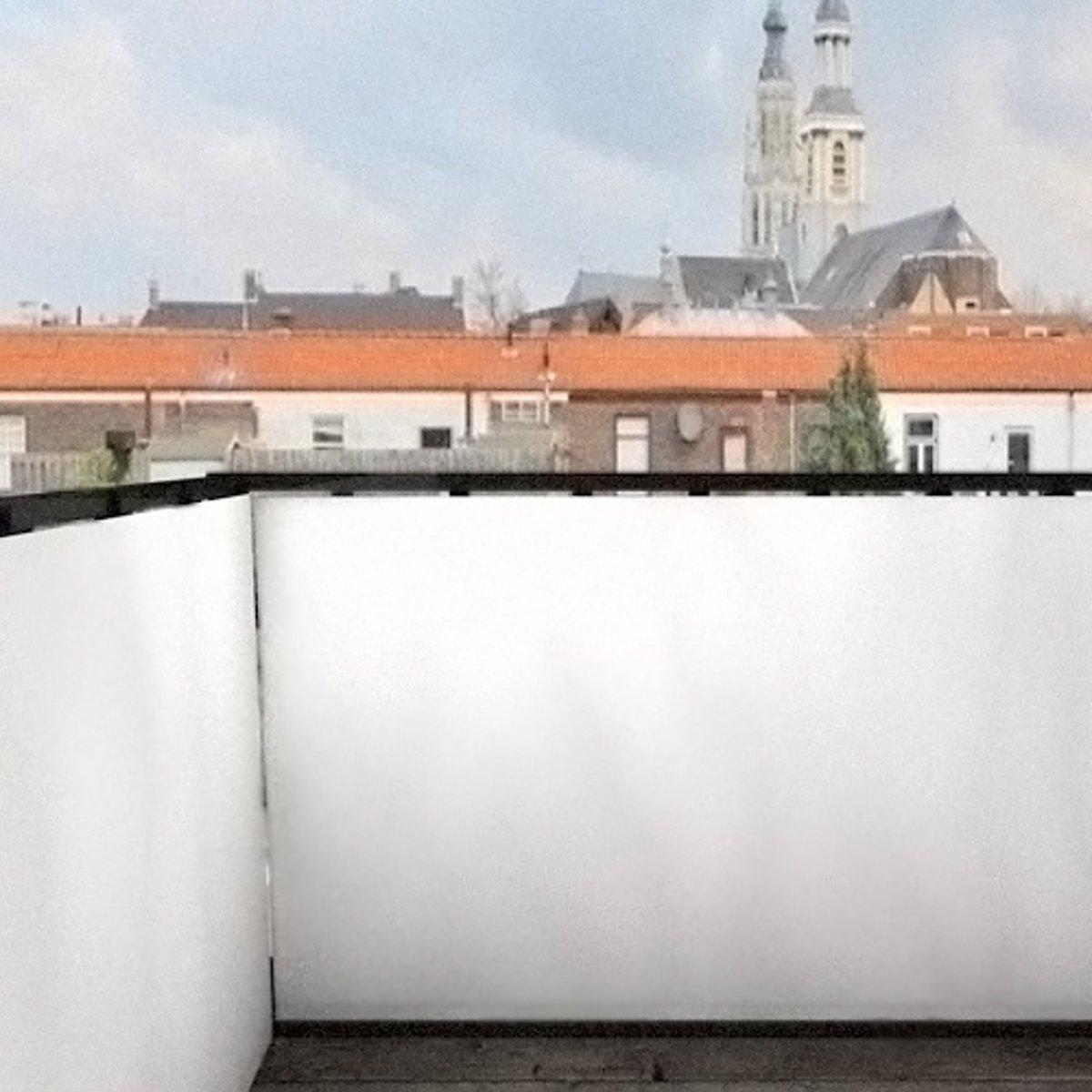 Balkonafscheidingen egaal wit (300x90cm Enkelzijdig)