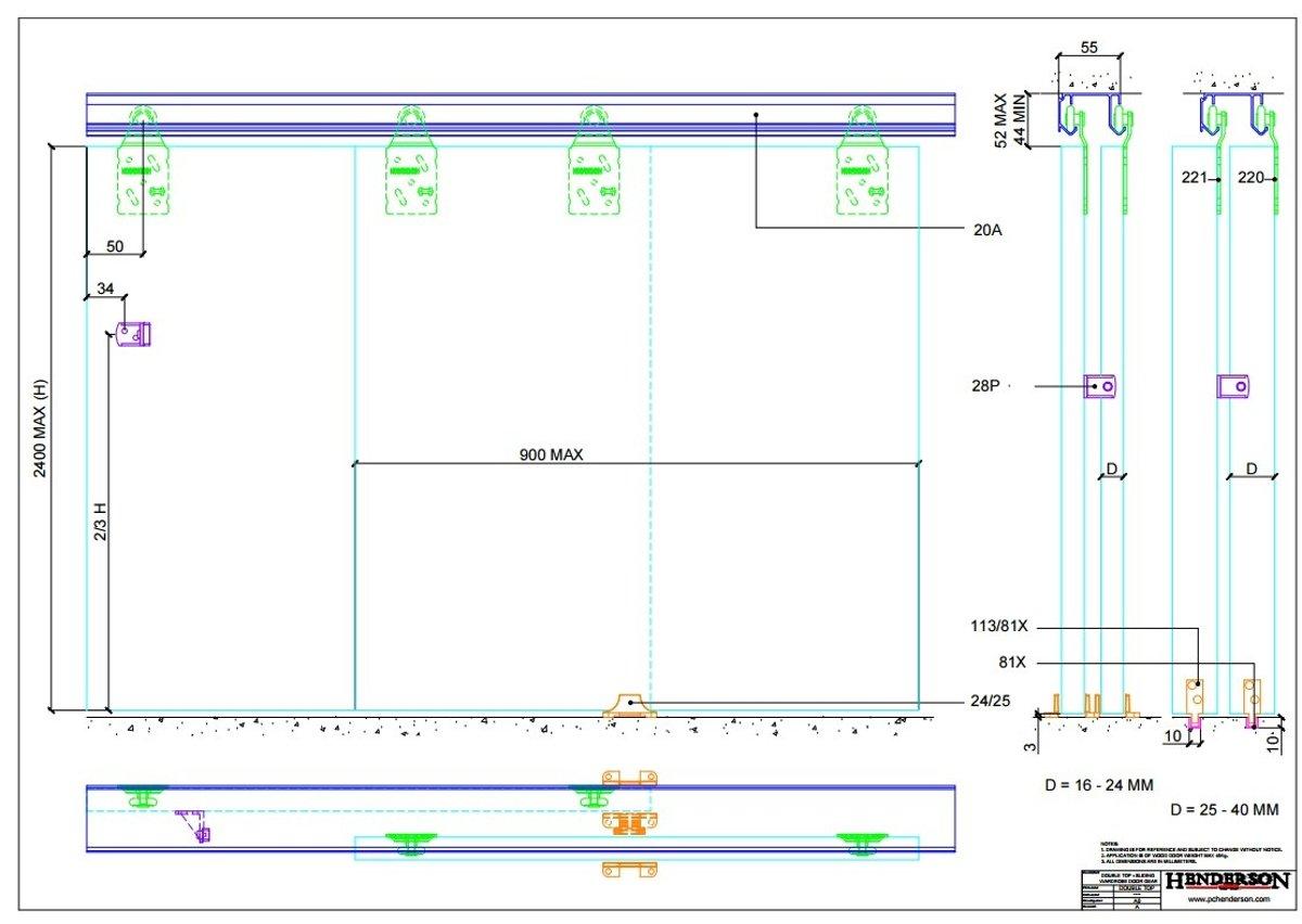 Rails Voor Deuren : Bol henderson schuifdeurbeslag cm aluminium bovenrails