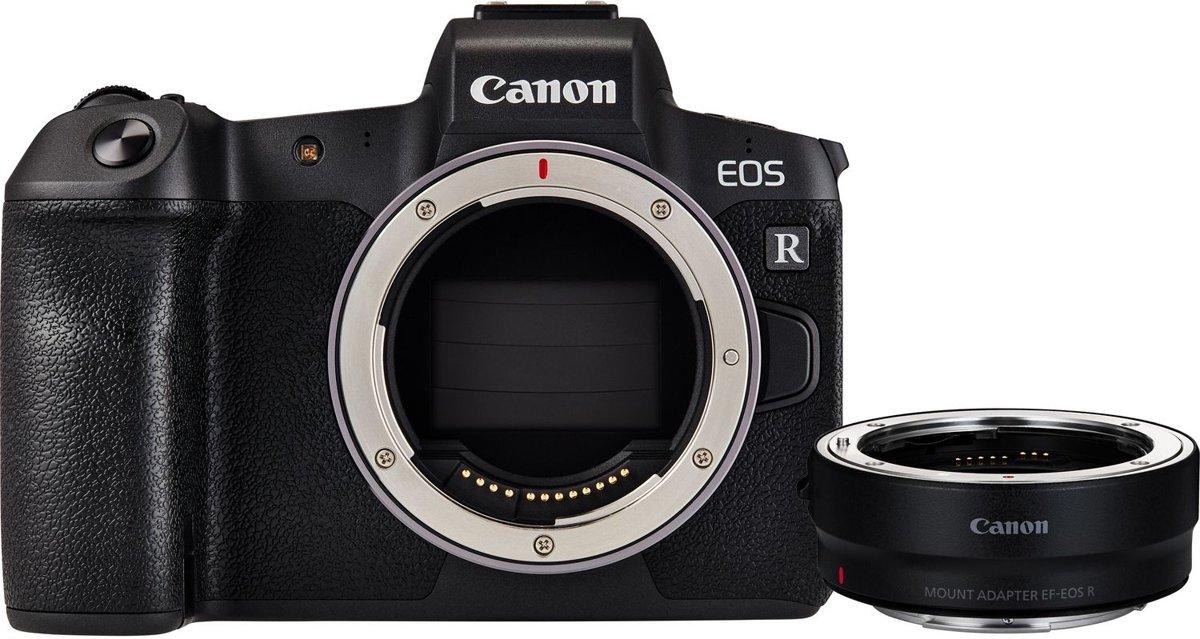 Canon EOS R Body + EF-EOS R Mount Adapter - Zwart