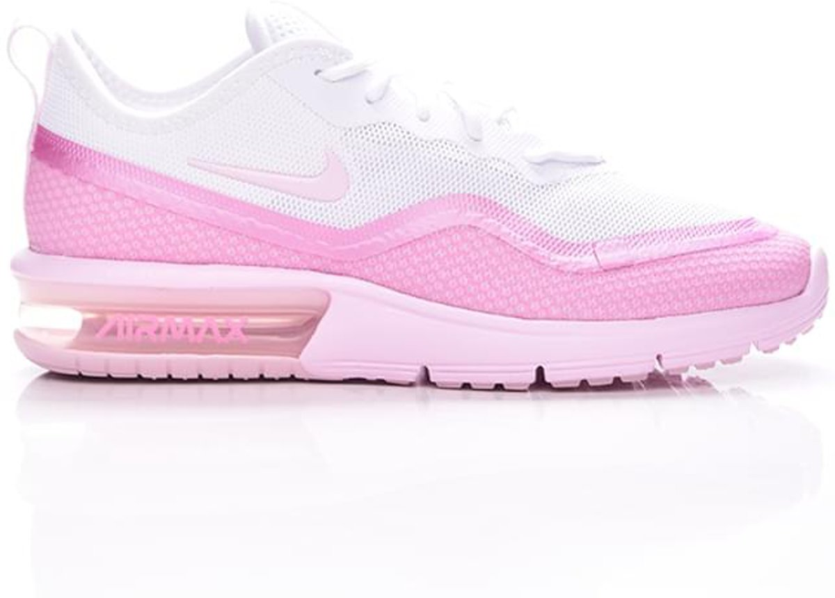 | Nike Air Max Sequent 4.5 Wit Roze Sneakers