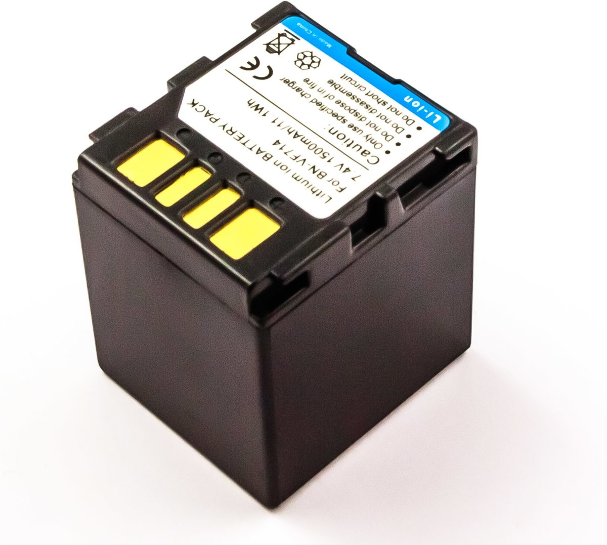 Afbeelding van Wholeshare Battery similar JVC BN-VF714, Li-ion, 7,4V, 1500mAh, 11,1Wh