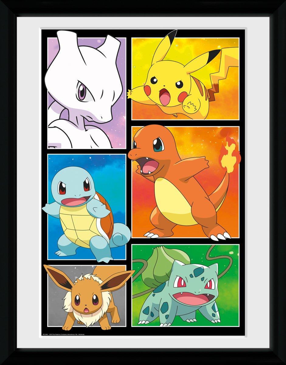 Framed collector print met kader 30 x 40cm Pokemon Comic Panels kopen