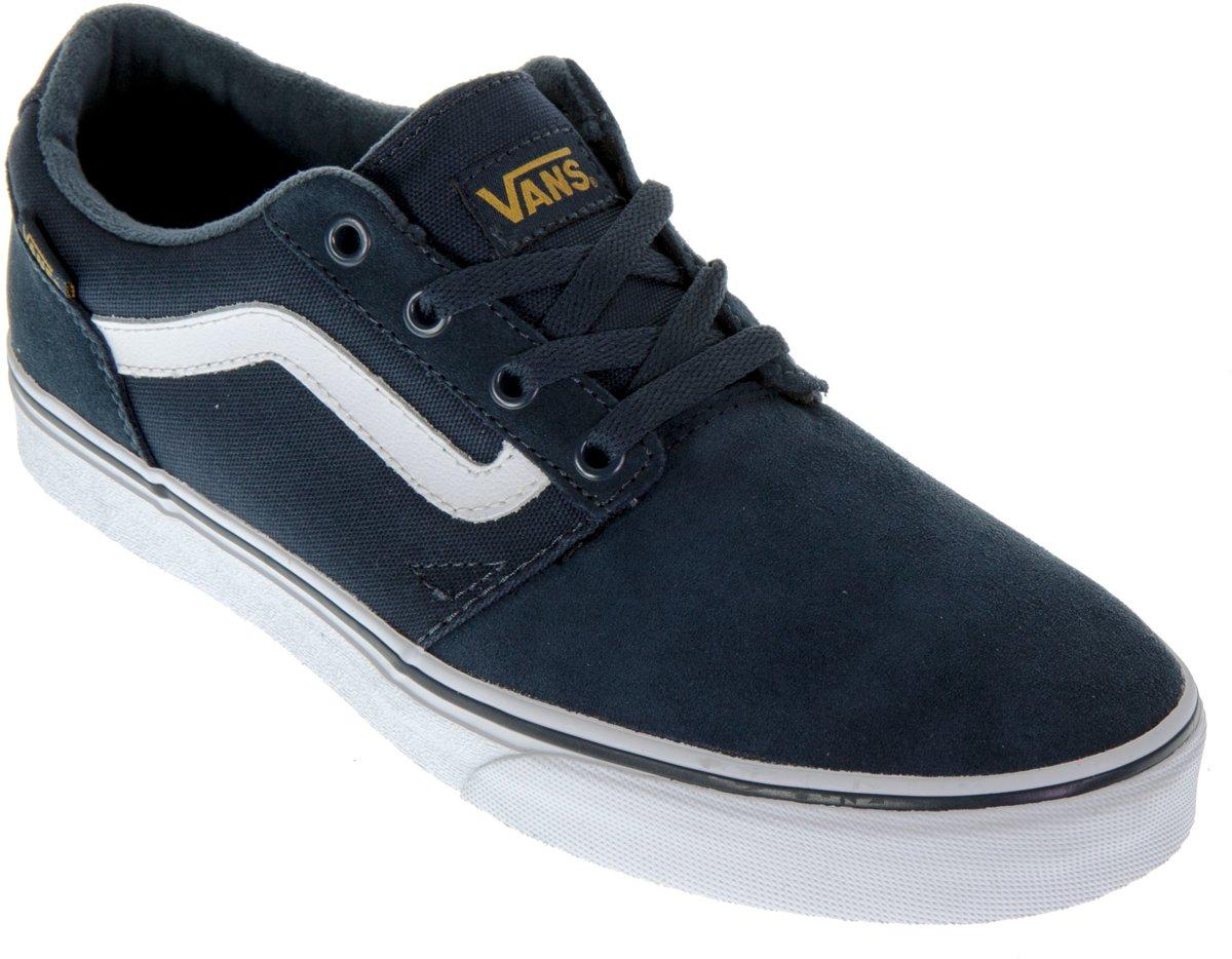 a3612e1621d bol.com | Vans Chapman Stripe Sneakers Heren Sportschoenen - Maat 43 -  Mannen - blauw/wit