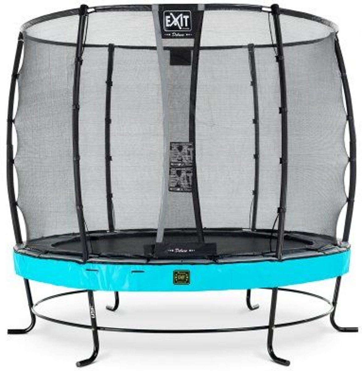 EXIT Elegant trampoline ø305cm met veiligheidsnet Deluxe - blauw