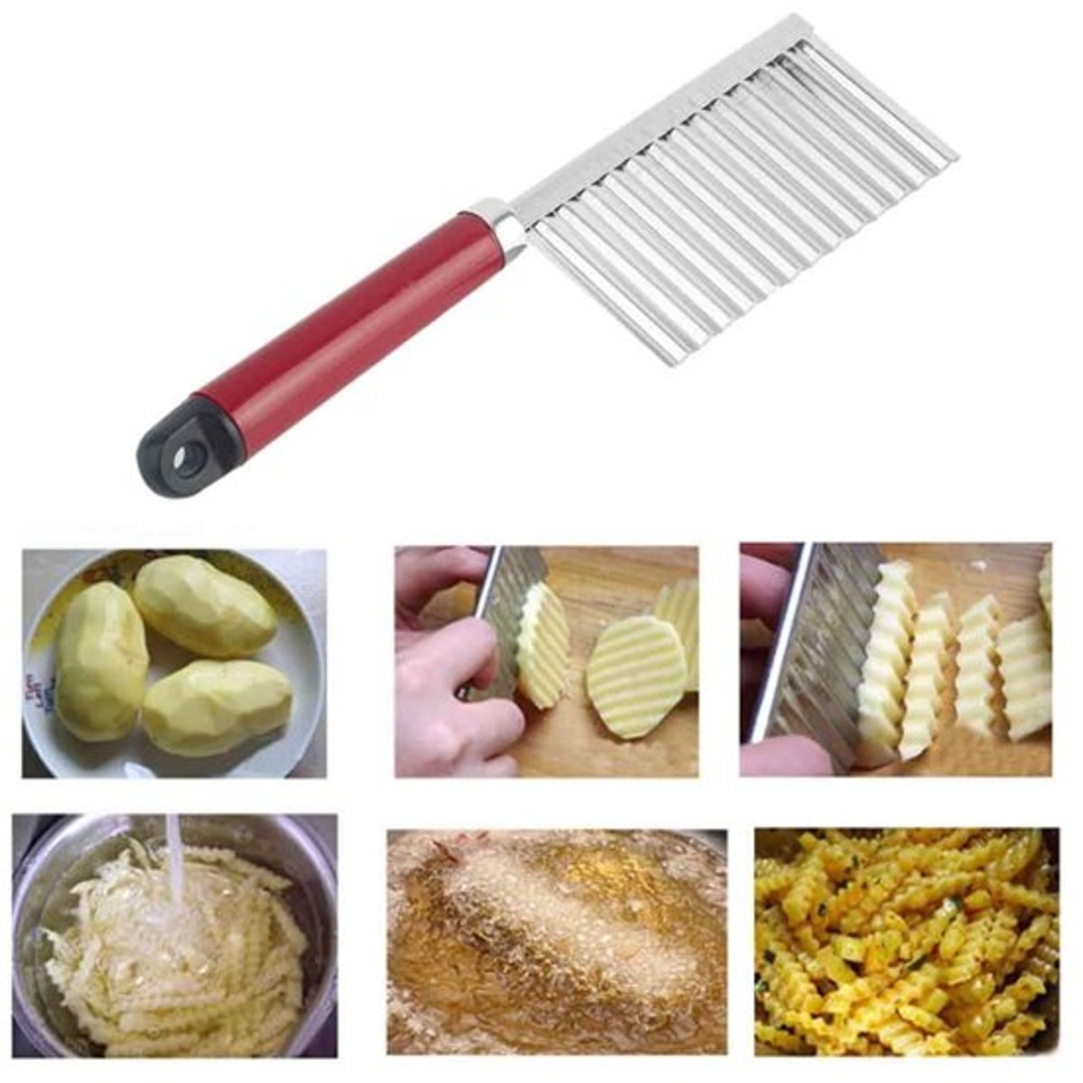 Multifunctioneel Keuken Kartelmes - Frietsnijder kopen