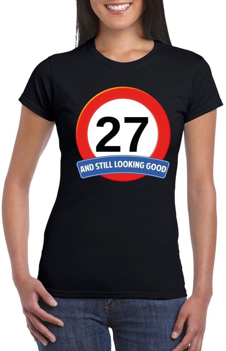 27 Jaar And Still Looking Good T Shirt Zwart Dames Verjaardag