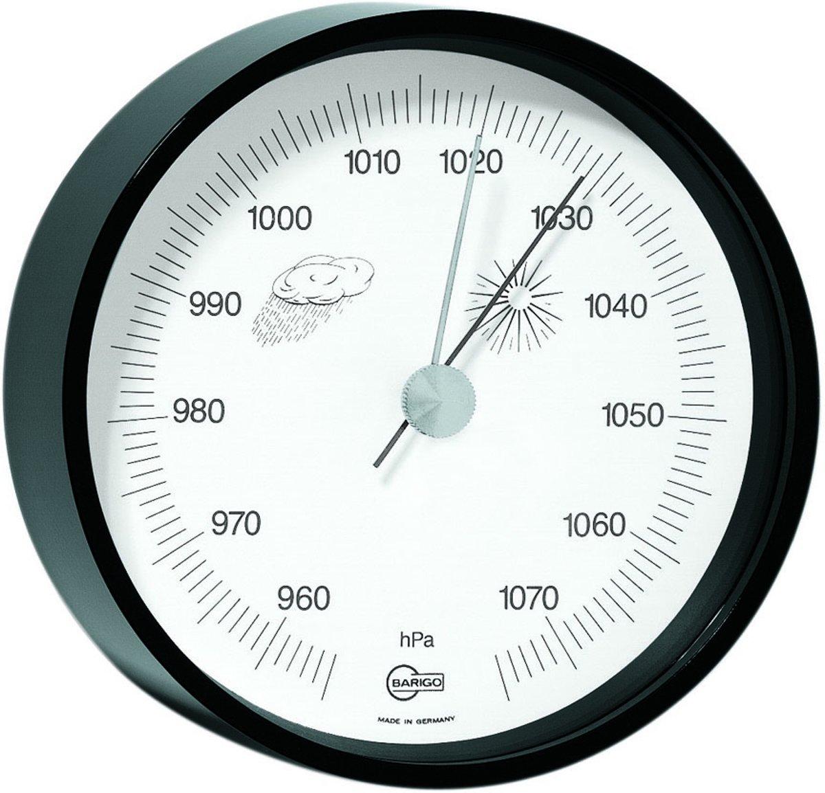 Barigo 115zw barometer messing zwart gelakt kopen