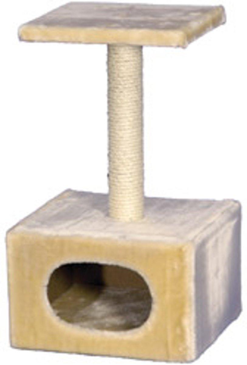 Nobby krabmeubel classic 3 pluche en sisal beige 33 x 33 x 56 cm - 1 st