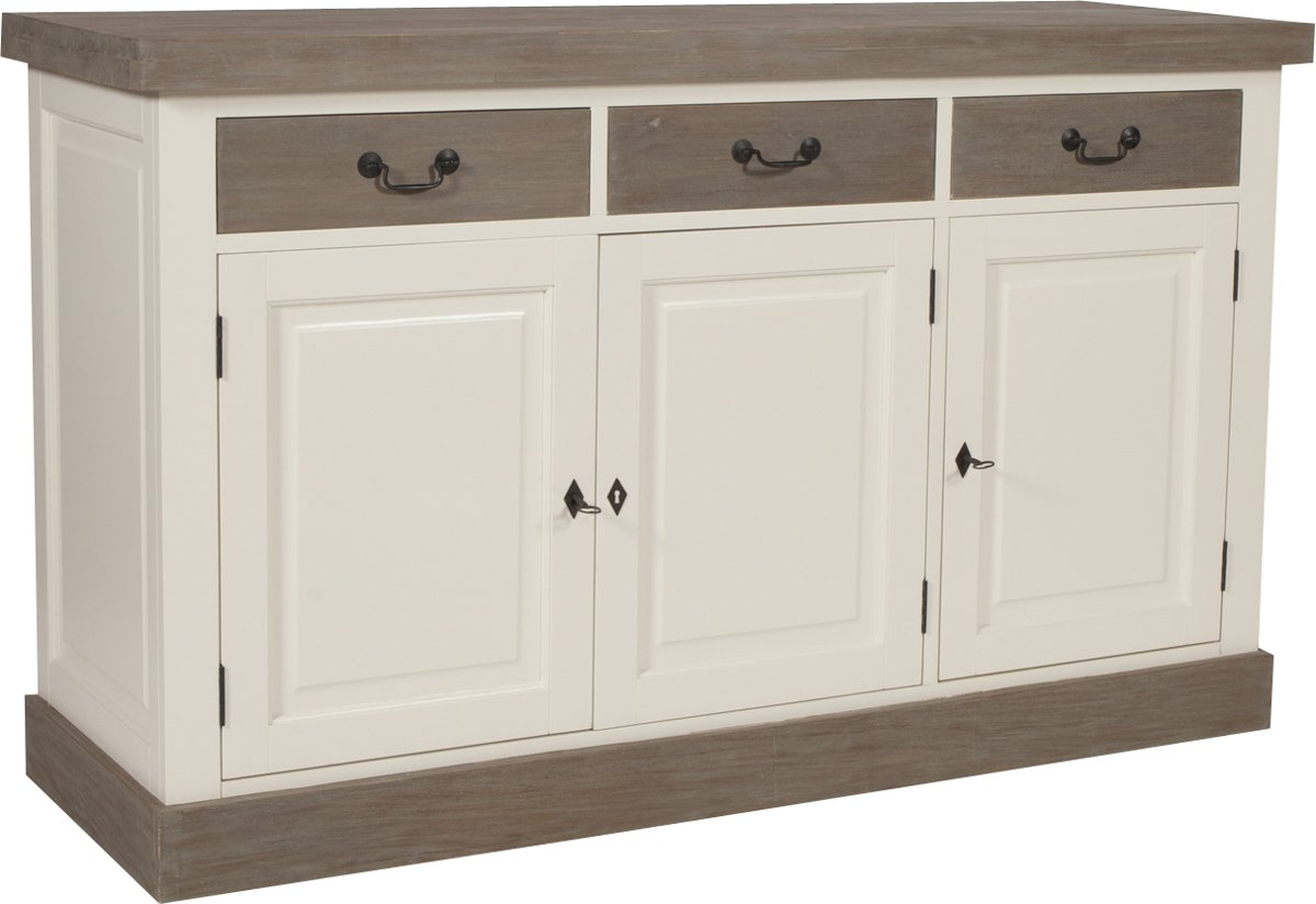Dressoir Wit Landelijk : Bol dressoir landelijk deurs wit met greywash cm