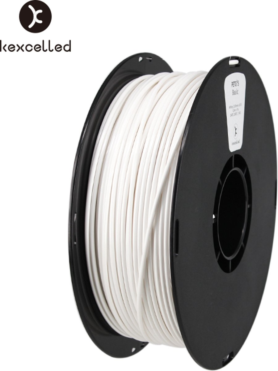 kexcelled-PETG-1.75mm-wit/white-1000g(1kg))-3d printing filament