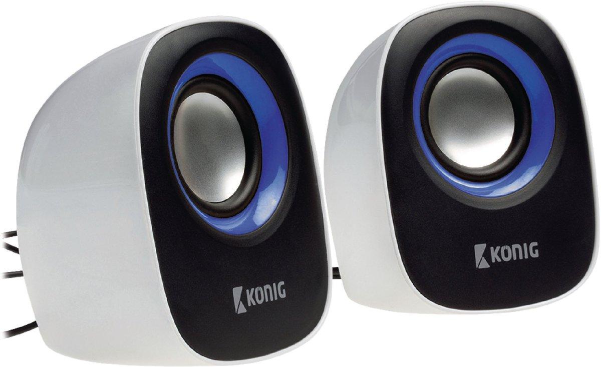 König CS20SPS100BU 4W Zwart, Blauw, Wit luidspreker