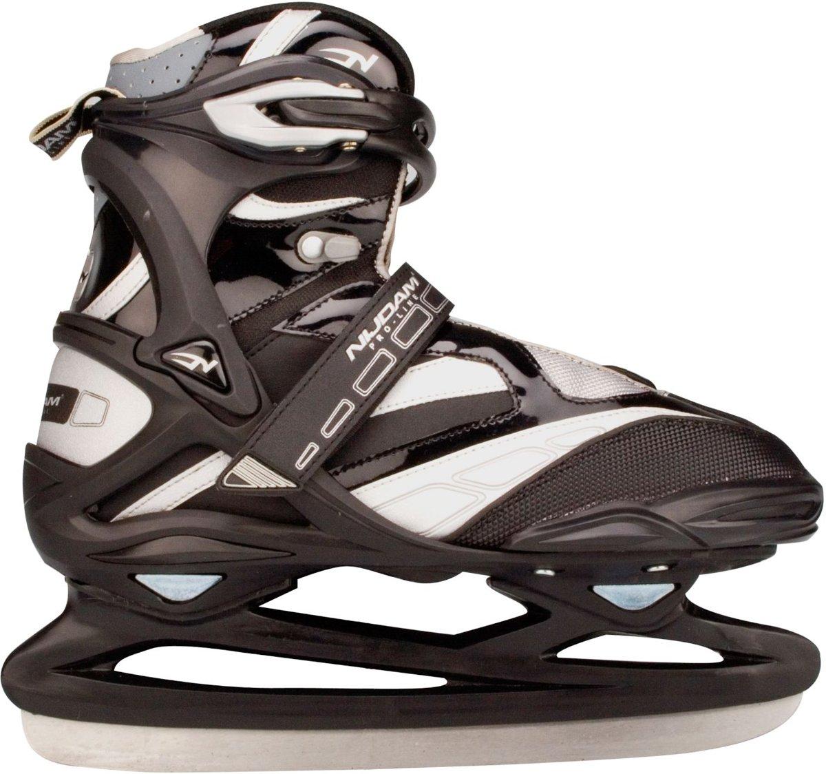 Nijdam 3381 Pro Line IJshockeyschaats - Schaatsen - Mannen - Zwart/Zilver - Maat 37