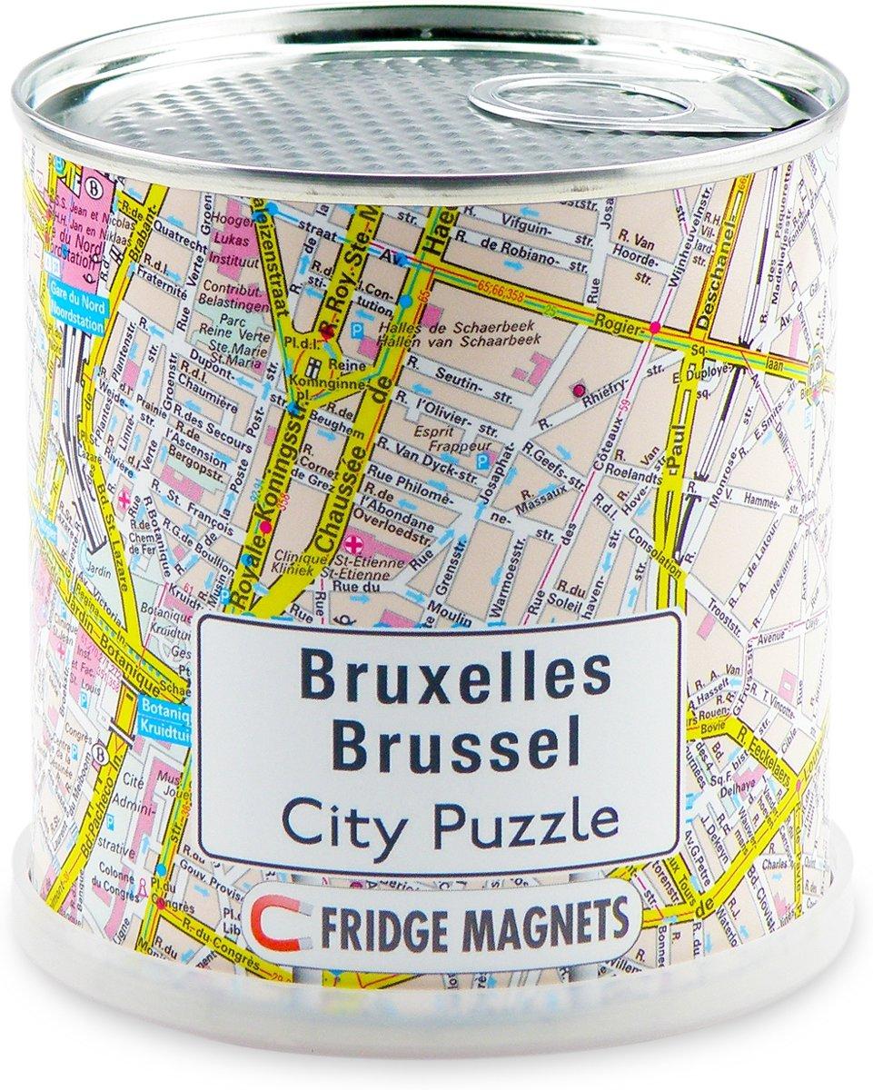 City Puzzle Brussel - Puzzel - Magnetisch - 100 puzzelstukjes