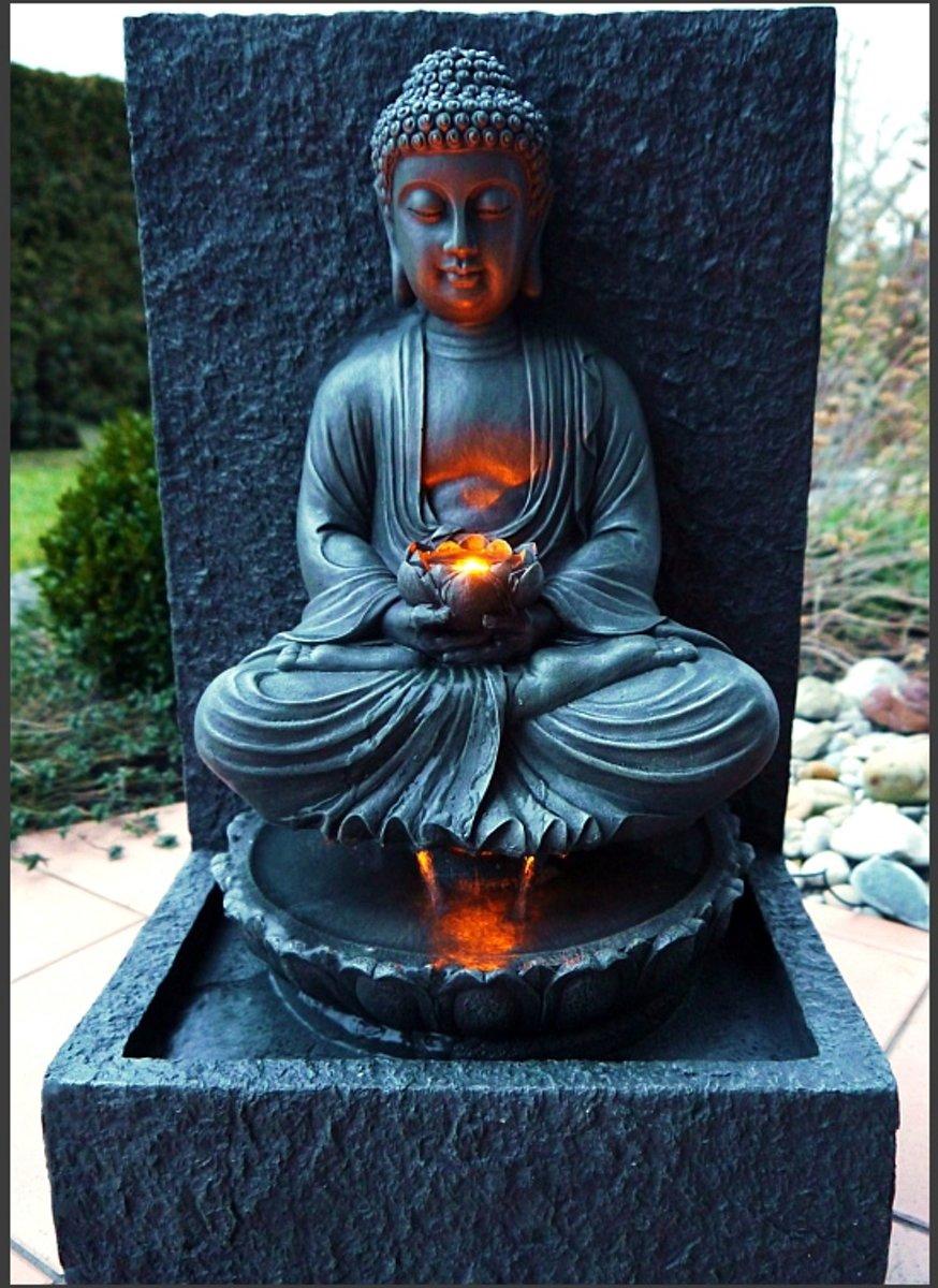 Boeddha Fontein Voor Buiten.Bol Com Boeddha Buddha Fontein Waterpartij 65 Cm