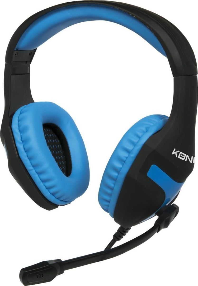 Konix - Gaming  Headset - Playstation 4 - PS-400-Zwart - Blauw kopen