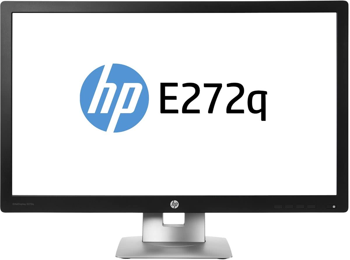"HP EliteDisplay E272q 27"" 4K Ultra HD IPS Matt Zwart, Zilver"