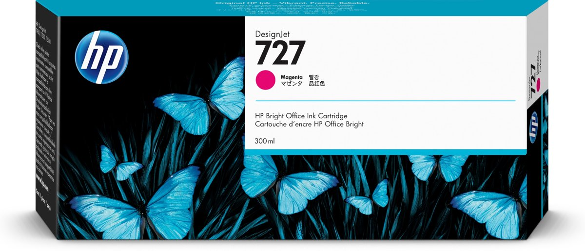 HP 727 300-ml Inkt Cartridge Magenta