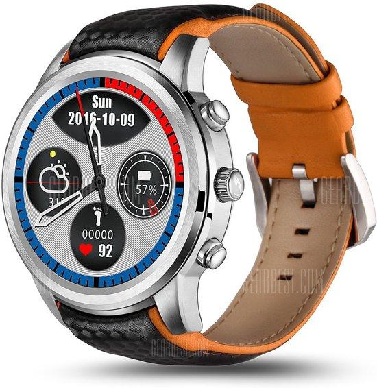 Hewec Lemfo GPS Smartwatch Smarthorloge 1GB Ram/8GB Opslag Zilver