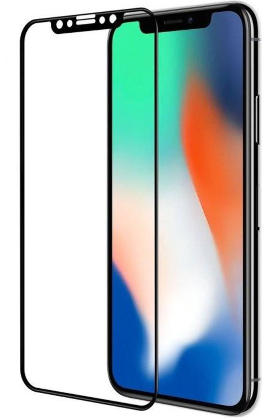 Zwart 3D Arc Edge Tempered Glass Screenprotector Curved [Bubble Free] iPhone X / Xs