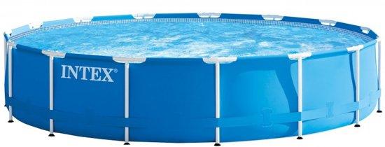 Opzetzwembad Metal Frame Pool Set 457 x 84 cm blauw