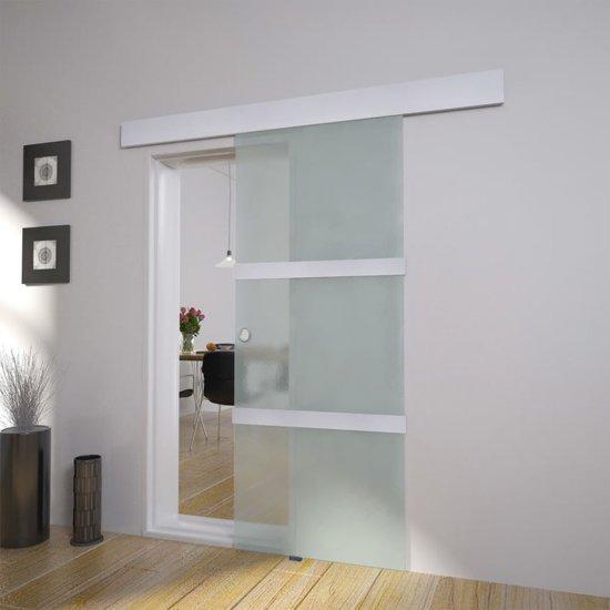 Binnen Schuifdeuren In Glas.Bol Com Vidaxl Schuifdeur Glazen Schuifdeur 205 X 75 Cm 60266