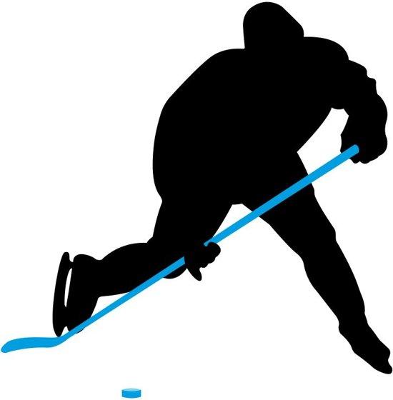 Nijdam IJshockeystick Hout/Glasfiber Jr - 137 cm - Antraciet/Fluororanje/Zilver - Links