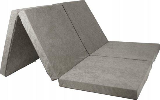 2 persoons logeermatras - grijs - camping matras - reismatras - opvouwbaar matras - 195 x 120 x 7