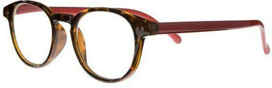 Icon Eyewear RCR003 Boston Leesbril +1.00 - Demi montuur, rode poten