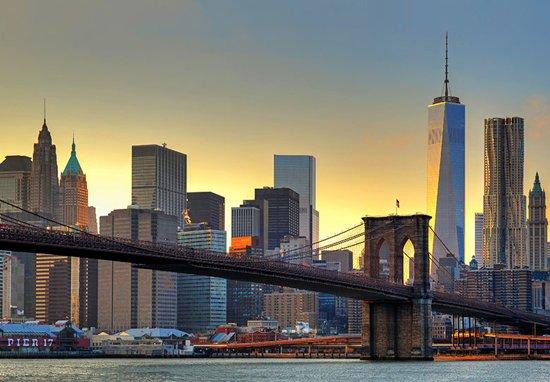 W & G Fotobehang Brooklyn Bridge Sunset - 8 delig