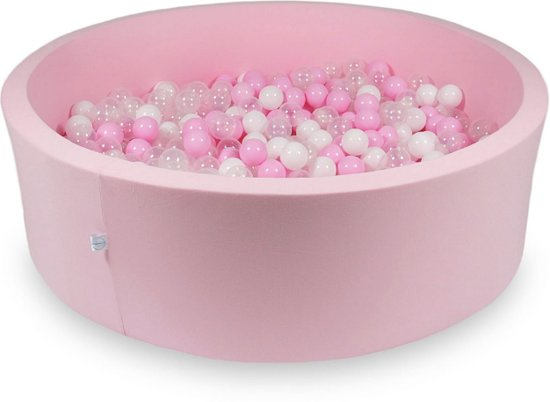 Ballenbak XXL - 700 ballen - 130 x 40 cm - ballenbad - rond roze