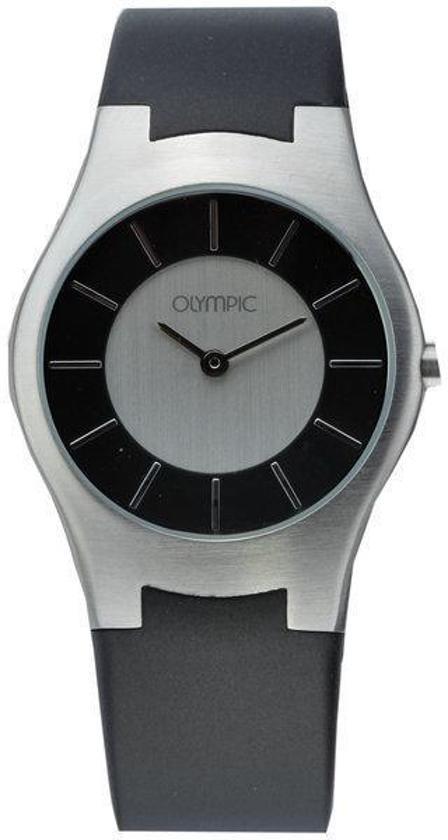 Olympic OL29DSR009 Horloge - Rubber - Zwart - 24 mm