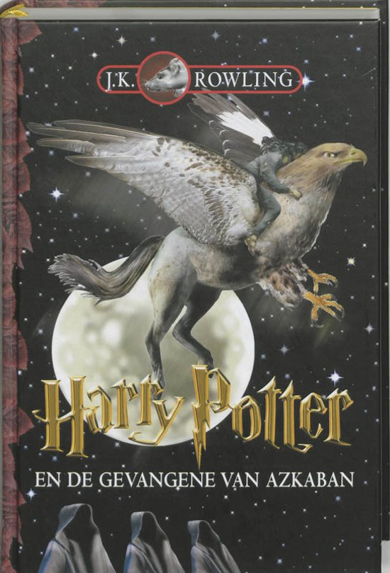 Cover van het boek 'Harry Potter en de gevangene van Azkaban' van J.K. Rowling