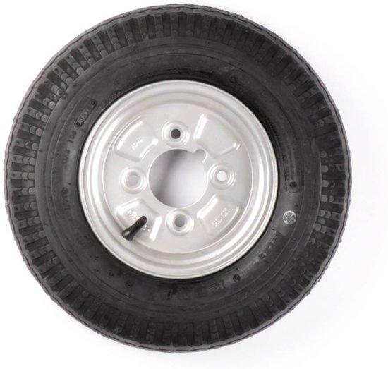 Aanhangwagendirect Wiel 4.00 - 8 (4x101,6) 335kg vetnippeluitsparing 6PR