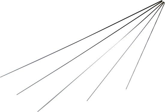 Hengeltop - glasfiber - vol - 60 cm / 0,7 tot 2,2 mm doorsnede