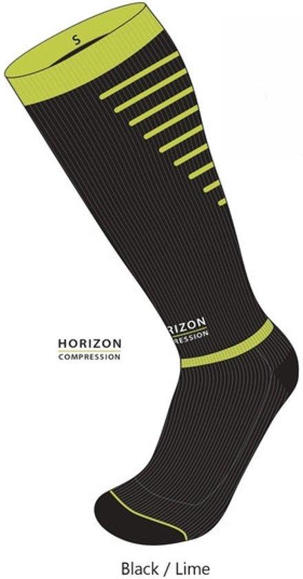 Horizon Sport compressie kousen zwart/groen Large (43-46) Kuit:43-53cm