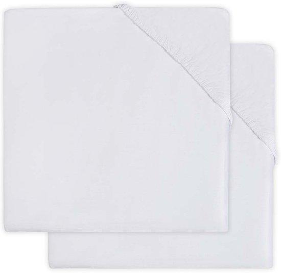 Jollein Hoeslaken jersey 40x80cm white (2pack)