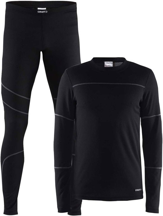 Craft Baselayer Set Thermoset Heren - Black/Granite - Maat L