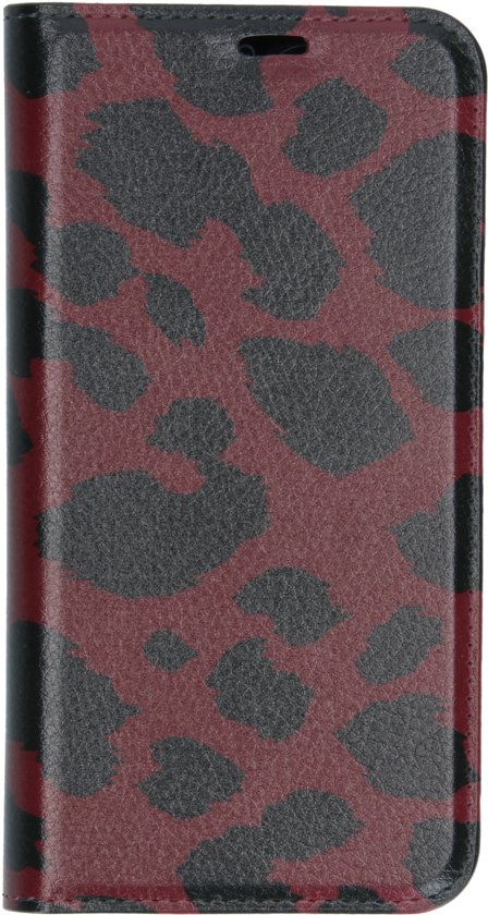 Design Softcase Booktype Samsung Galaxy A20e hoesje - Panter Rood