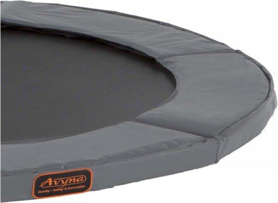 Avyna trampoline PRO-LINE 23 (300x225cm) + net boven + ladder - grijs