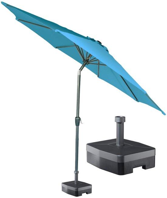 Kopu® ronde stok parasol 300 cm Calma met voet - Turquoise