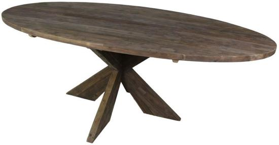 Bol.com hsm collection ovale tafel met kruispoot 220x110 cm