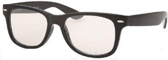 6ca72019699e75 Wayfarer model nerdbril   hipster bril - zwart