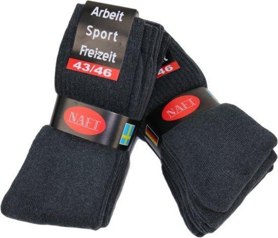 Sport sokken 10 pak grijs 43-46