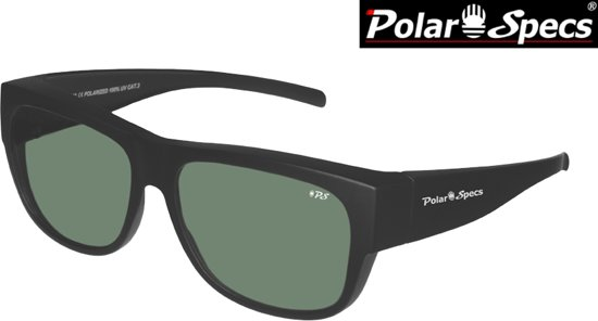 aee4d9f3a57771 Polar Specs® Overzet Zonnebril PS5096 – Mat Black – Polarized Green – Large  – Unisex