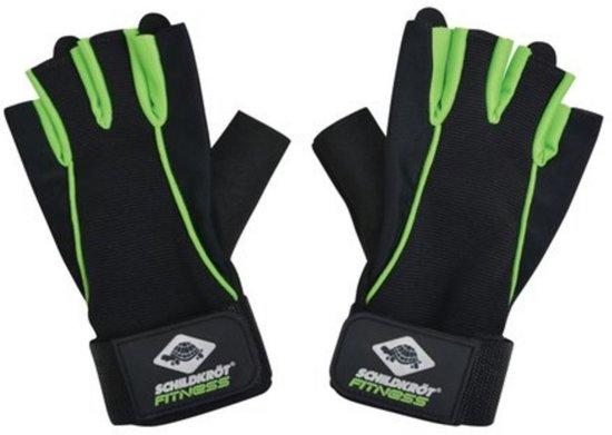 Schildkröt Fitness - Fitnesshandschoenen Pro - Maat S/M - Zwart/Groen
