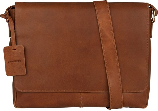 BURKELY Vintage Juul Messenger Bag - Schoudertas - Cognac