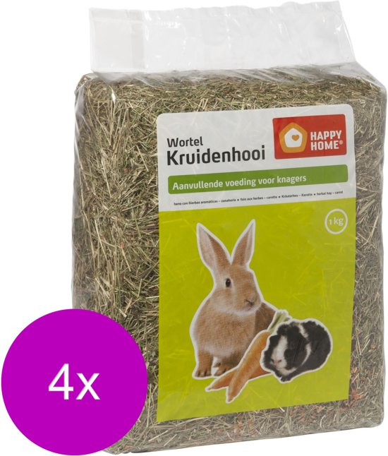 Happy Home Kruidenhooi 1 kg - Ruwvoer - 4 x Wortel