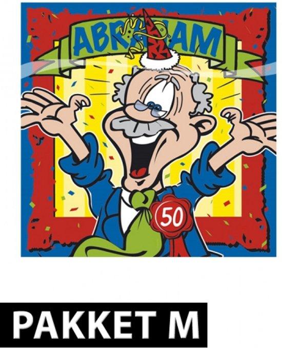 versiering 50 jaar abraham bol.| Abraham versiering pakket, Fun & Feest Party Gadgets  versiering 50 jaar abraham