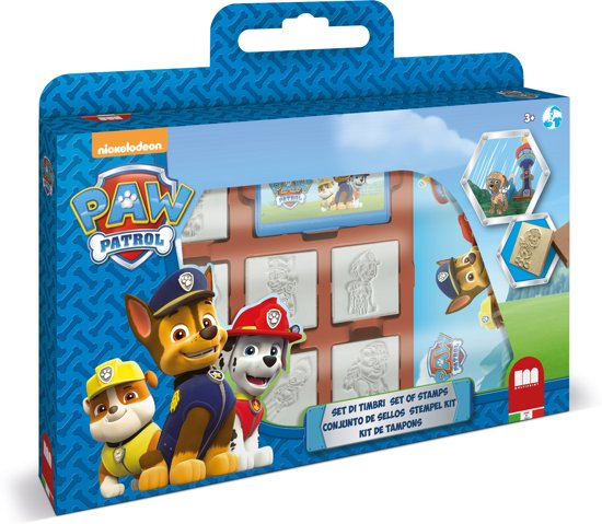 Multiprint Nickelodeon Paw Patrol - windowbox - 7 stempels + 3 stiften
